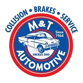 M&T Auto Body Sticky Logo
